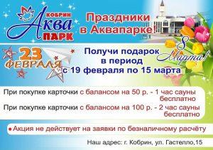 Акция в аквапарке Кобрина